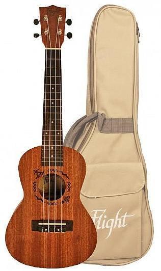 FLIGHT NUC 310 - укулеле, концерт, корпус - сапеле, чехол в комплекте