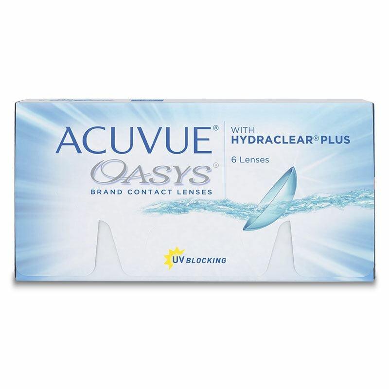 Контактные линзы Acuvue OASYS with Hydraclear Plus (6 линз), Оптическая сила -4