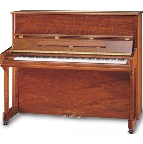 """Samick JS132MD MAHP пианино,132x148x63, 260 кг, струны """"Roslau"""" (нем.), полированное красное дерево"""