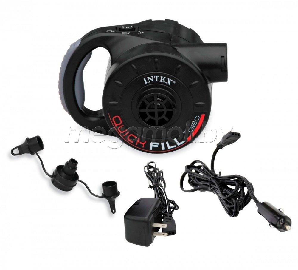 Электрический воздушный насос с аккумулятором 220В/12В Quick-Fill RECHARGEGEABLE Pump Intex 66622