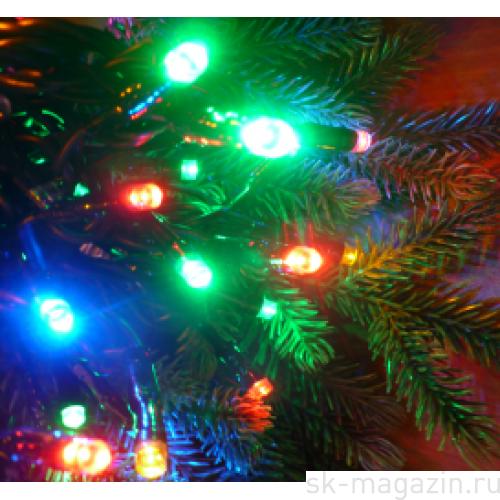 Гирлянда светодиодная нить, 200 светодиодов, 20 м., разноцветная, 8 режимов мерцания