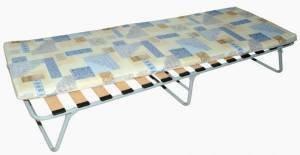 Раскладушка с матрацем (h=7см) на ламелях Марфа-1 190*70*32см до 100кг холкон КРЛ210 ЗМИ
