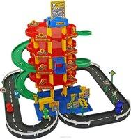 Паркинг 5-уровневый с дорогой и автомобилями Wader 38104 (в коробке) - 6234