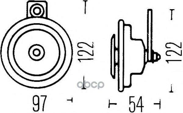 Звуковой Сигнал 12v HELLA арт. 3AL002952-861