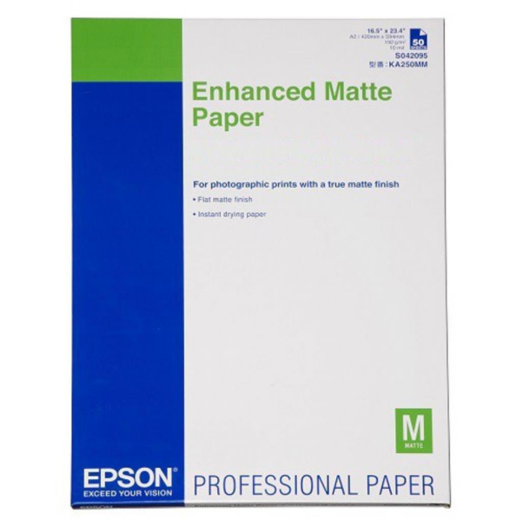 Бумага EPSON Enhanced Matte Paper, 50л./ A2 C13S042095