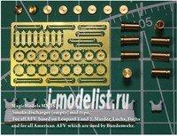 MM3538 Magic Model 1/35 Дымовые мортиры (пустые). Для Leopard 1, Leopard 2 (и машин на их базе) , Marder, Luchs, Fuchs и американской техники, эксплуатировавшейся в Бундесвере. В комплекте 8 мортир.