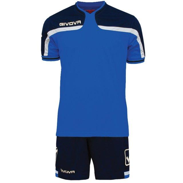 Форма футбольная Givova Kit America, 2XL, синий, Тренировочный, полиэстер