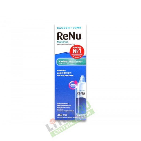 Многофункциональный раствор для линз ReNu MultiPlus (360 мл)