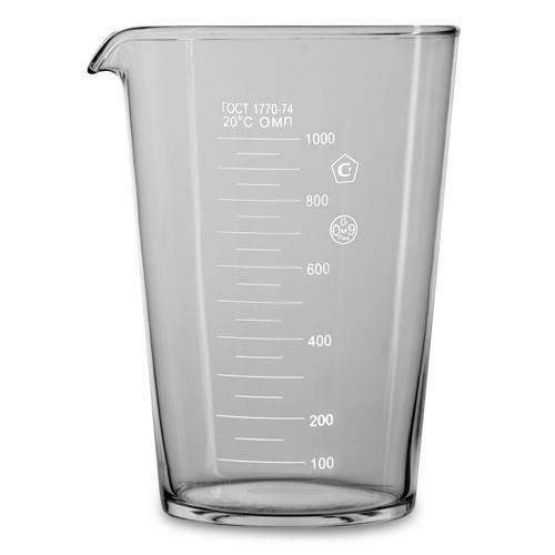 Мерный стакан 1000 мл. в индивид. упак. ГОСТ 1770-74 /1/, MAG - 49294