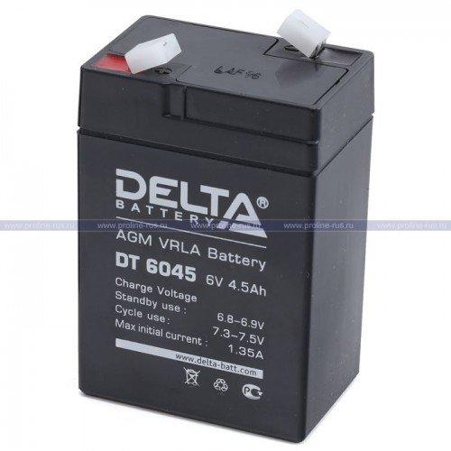 Аккумуляторная батарея DELTA АКБ 6V 4.5Ah