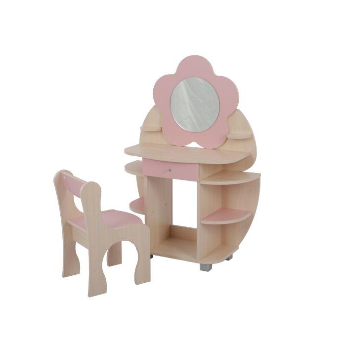 Столик и стульчик Мебельсон Набор Ромашка Розовый