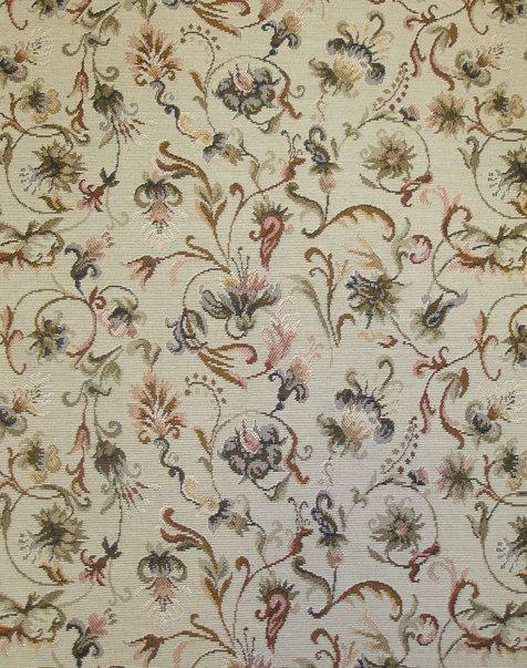 Ткань жаккардовая Английские цветы вид 5