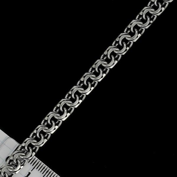 Серебряный браслет Бисмарк 24 см (ширина 0,6 см) арт.5892