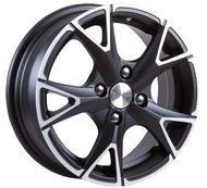 Колесные литые диски SKAD (СКАД) Орлан 5.5x14 4x100 ET45 D67.1 Черный матовый с полированной лицевой частью (арт.1160431) - фото 1