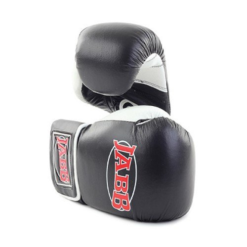 Перчатки боксерские Jabb JE-2009, черно-белые, 12 унций