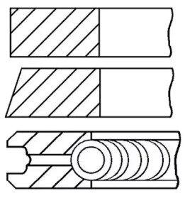 Кольца двс поршневые (к-т на 1 поршень) ford escor goetze engine 0878351100