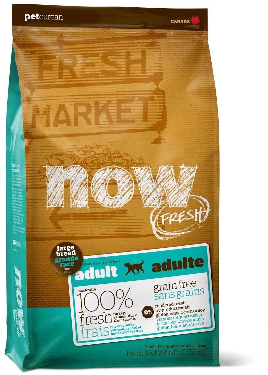 Сухой корм Now Fresh Large Breed Adult беззерновой с индейкой, уткой и овощами для взрослых собак крупных пород (11,35 кг, )
