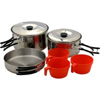 Набор туристической посуды (6 предметов: набор котелков, сковородка)