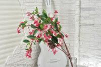 Цветок C-Import Фуксия имитация искусственный ветка, цвет красный, высота 100см, вес нетто 50g.
