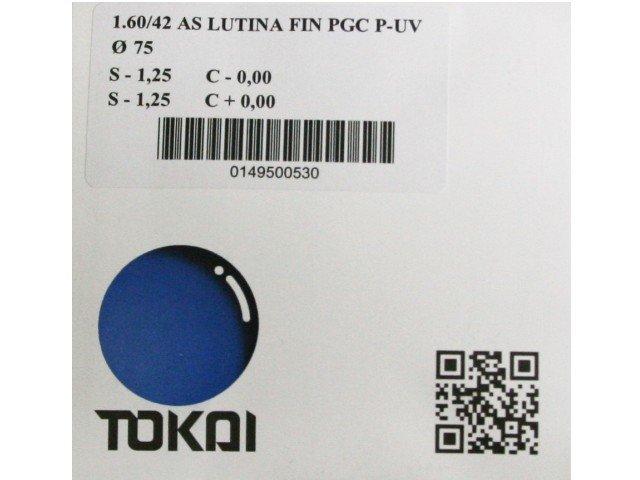 Линзы для очков Tokai очковая линза 1.6 AS Lutina PGC P-UV