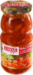 Фасоль EKO с овощами по-итальянски с/б 510г