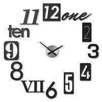 интерьерные часы Umbra Часы настенные Numbra, 34 см, металл, черный