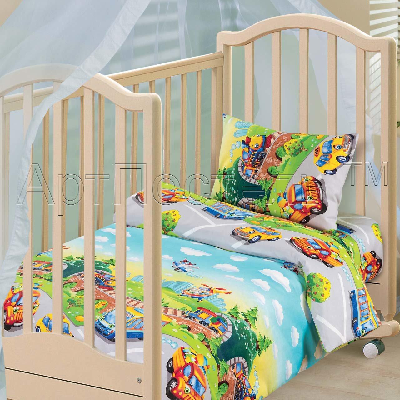 Постельное белье в кроватку, бязь Артпостель детский парк Ясельное (В кроватку для новорожденных)