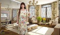 Сорочка из бамбука цветочек 2049 размер 54-56 (3XL)
