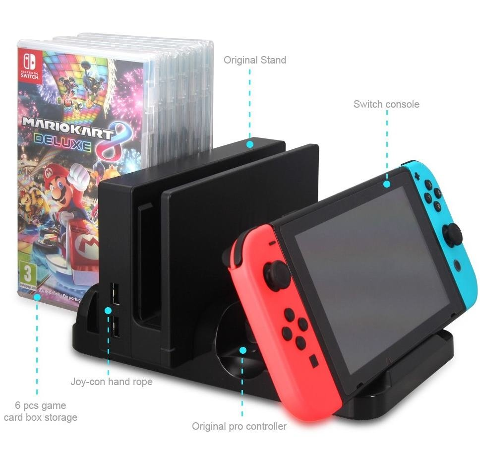 Зарядная станция Dobe Multi-Functional для Nintendo Switch (TNS-871)