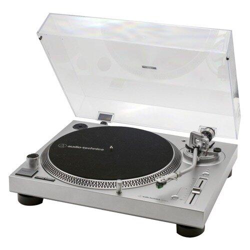 Проигрыватель винила Audio-Tecnica AT-LP120XUSB ручной серебристый