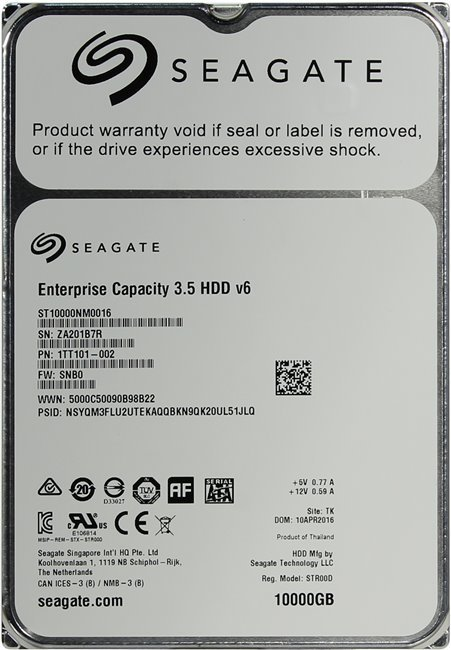 Жесткий диск Seagate Enterprise Capacity 3.5 ST10000NM0016