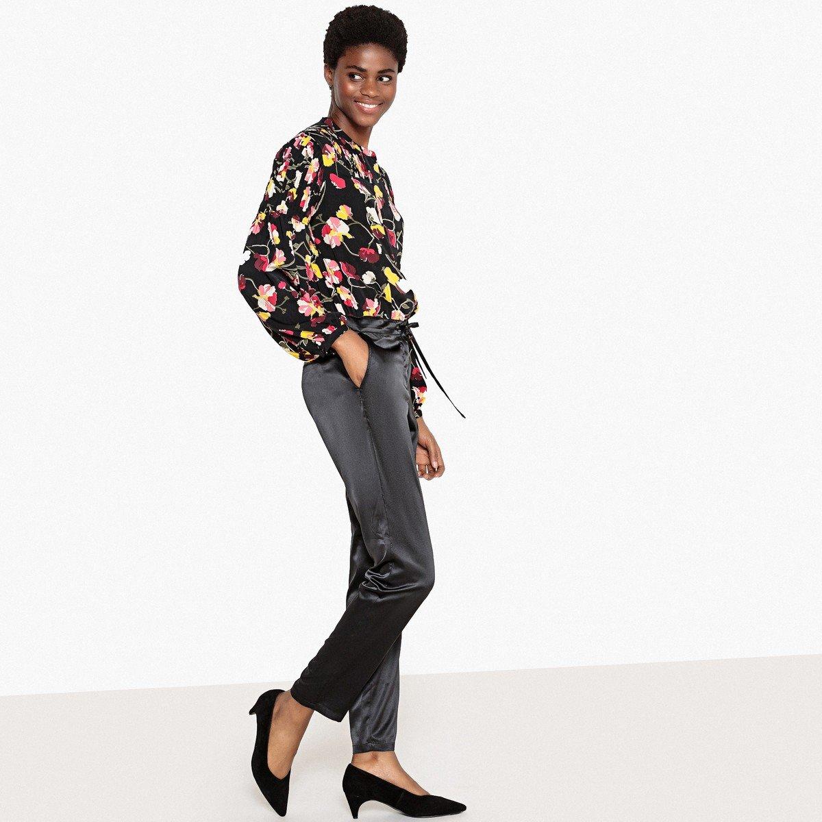 Комбинезон La Redoute С эффектом в из блузки с рисунком и брюк 44 (FR) - 50 (RUS) черный