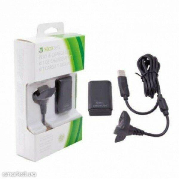Зарядное устройство с аккумулятором Play & Charge Kit black (Xbox 360)