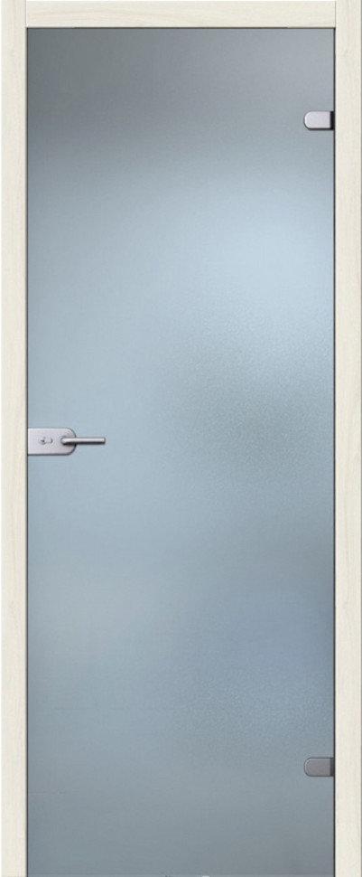 Дверь межкомнатная стеклянная браво лайт Белое Сатинато (2000 x 600 мм)