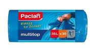 Пакеты для мусора PACLAN MULTI-TOP 35л, с завязками, 30шт. (ПВД) синие