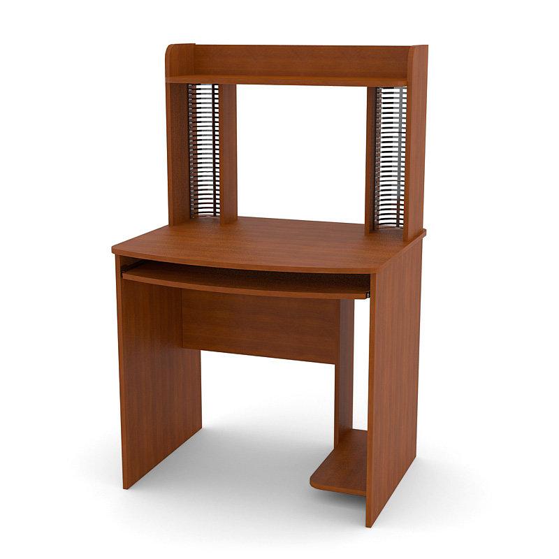 Прямой компьютерный стол с надстройкой Фаворит-Плюс СКП-2 (Темная Груша)
