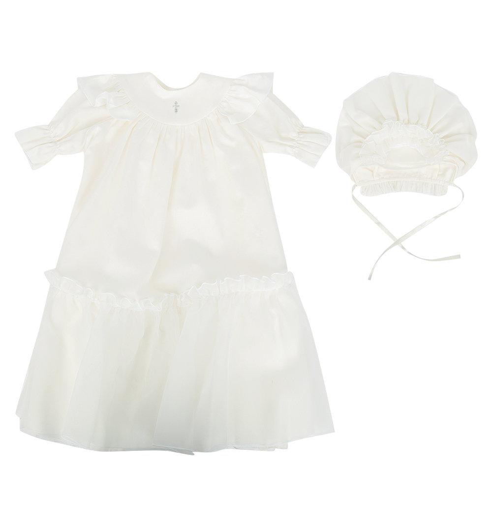 Комплект платье/чепчик Ангел Мой цвет: бежевый, для малышей, размер 62-68