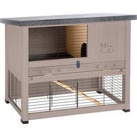 FERPLAST Клетка RANCH 120 BASIC для содержания кроликов на улице, деревянная (сизо-серая) ...