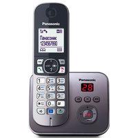Радиотелефон Panasonic KX-TG6821RUM серый мет.