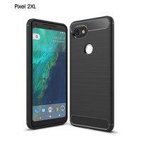 Чехол-накладка Carbon Fibre для Google Pixel 2 XL (черный)