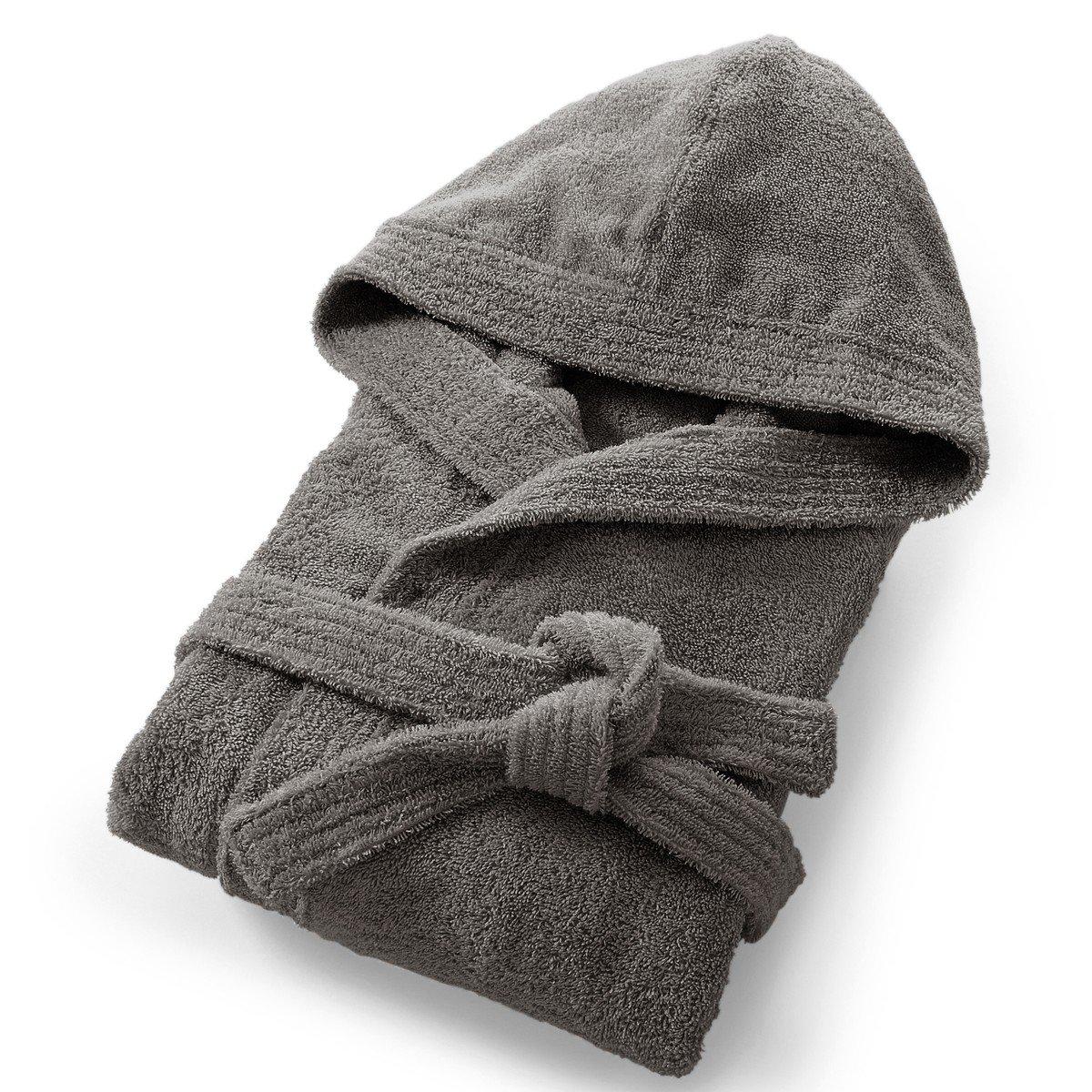 Халат La Redoute С капюшоном из махровой ткани гм 42/44 (FR) - 48/50 (RUS) серый