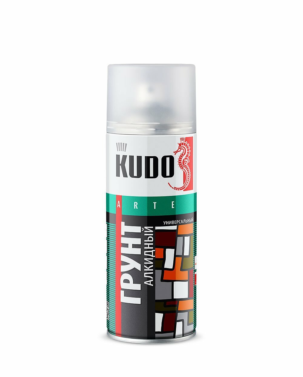 Грунт-аэрозоль алкидный Kudo KU-2001 серый 520мл