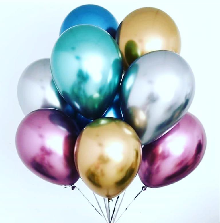 Воздушные шары с гелием ассорти «Хром»