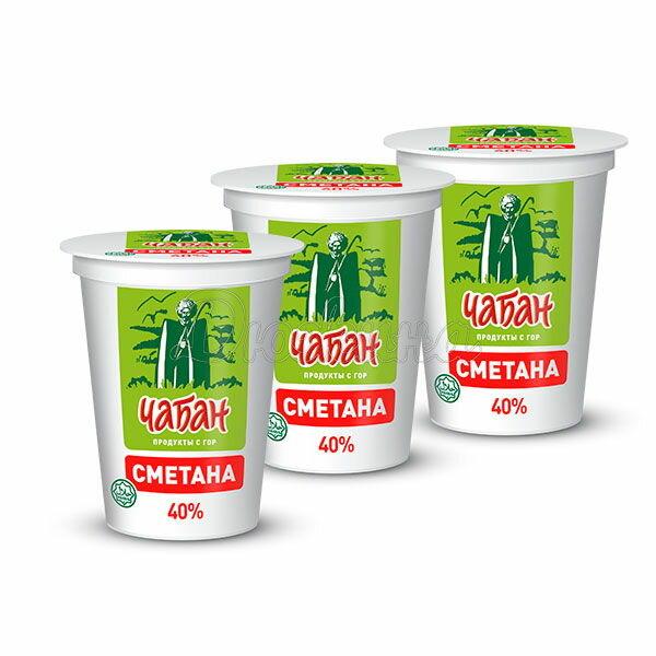 Сметана Чабан 40% 400 г x 3 шт