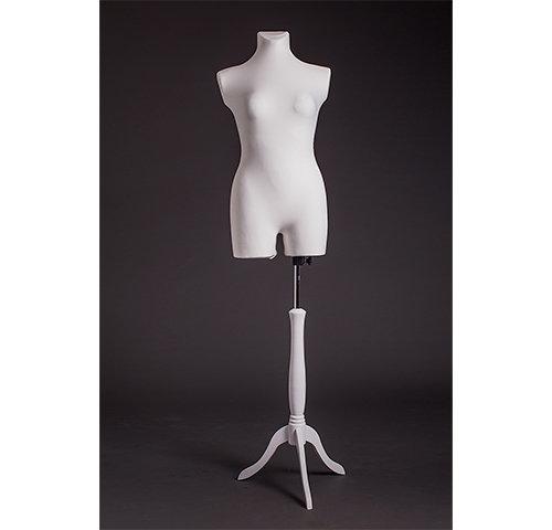 Манекен портновский женский с бедром на деревянной подставке (мягкий 46-48 р.) DR-10