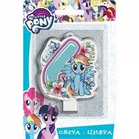 Свеча-цифра My Little Pony №6 4 см