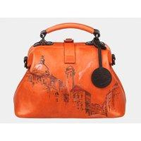Женская кожаная сумка-саквояж «Оксфорд»