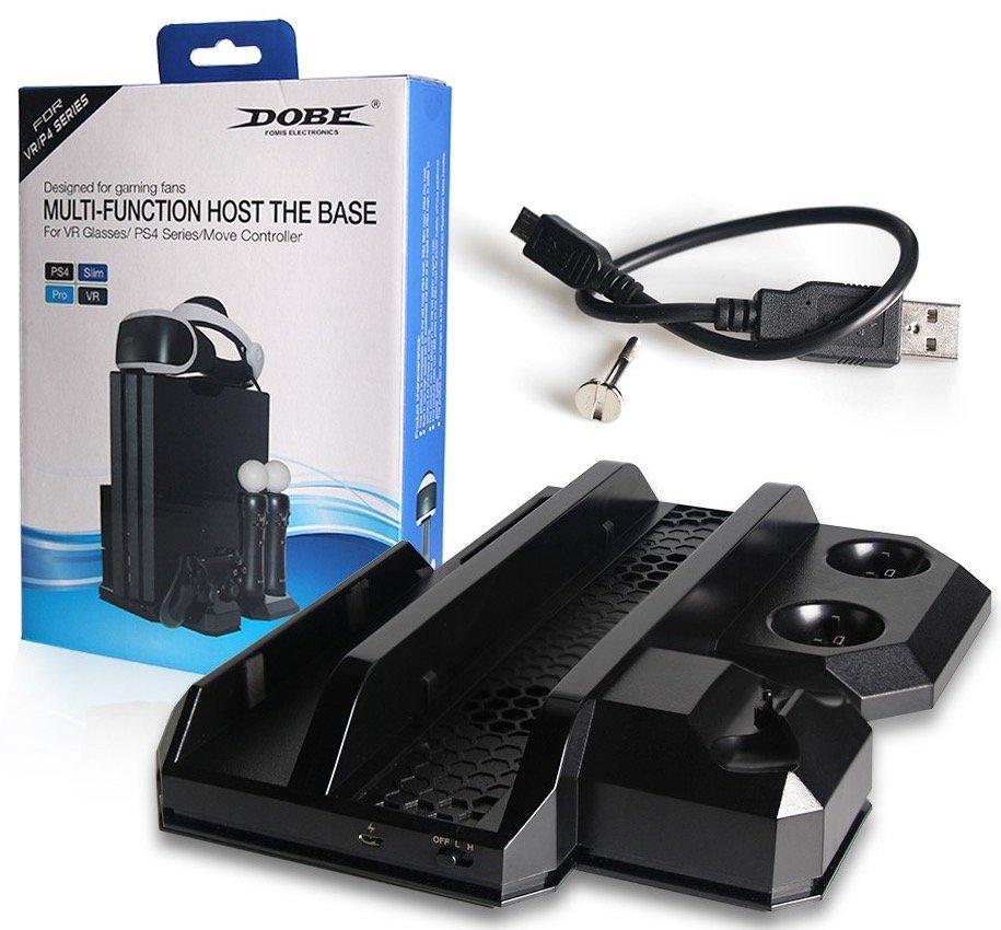 Многофункциональный стенд (подставка) DOBE 6в1 для PS4 Slim/Pro и PS VR