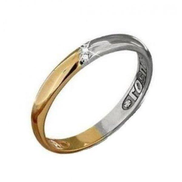Кольцо золотое Спаси и сохрани с фианитами, арт прКл-018