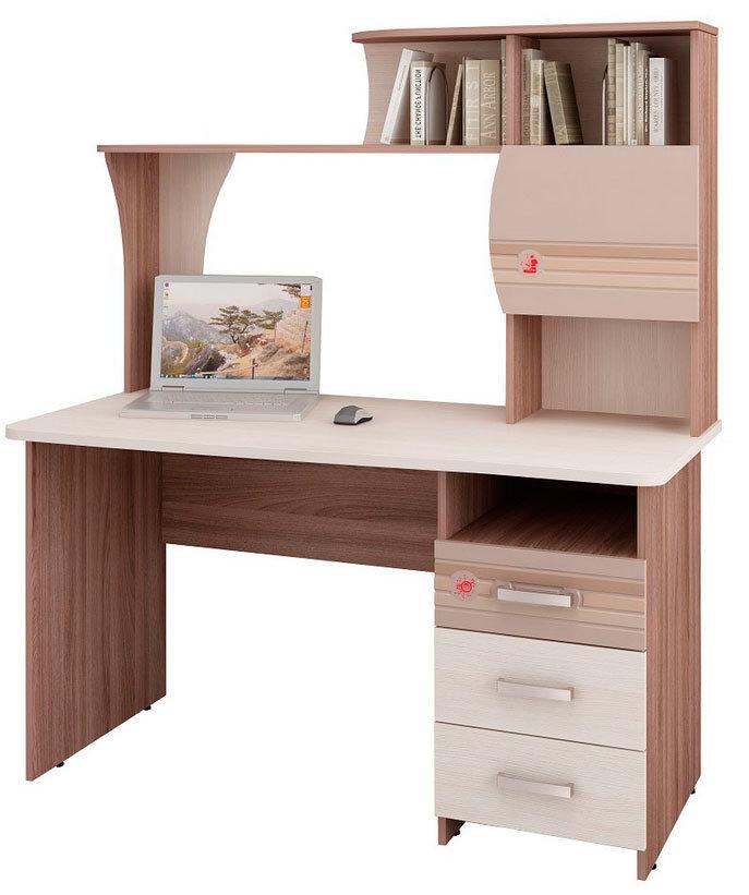купить письменный стол с полками и ящиками